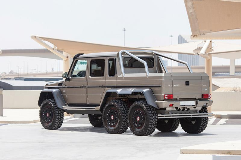 2015 Mercedes-Benz G63 AMG 6×6 Up For Auction RM Sotheby's tank six wheeler discontinued pristine condition silver paint luxury interior 3,775 kg 540 bhp