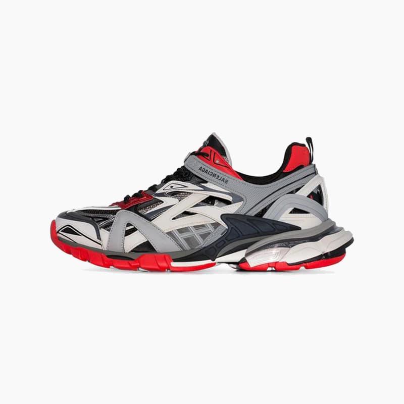 Balenciaga Black/White Track 2 Low-Top Sneakers