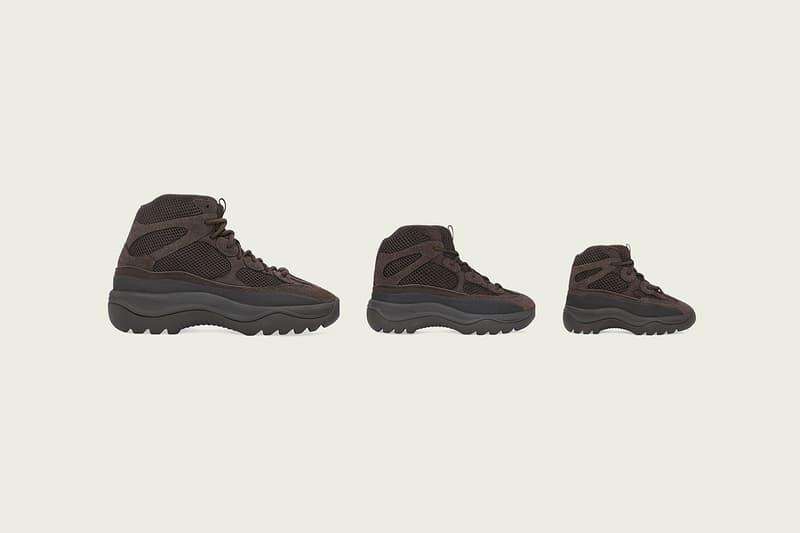 adidas originals YEEZY Desert Boot Salt, Rock, Oil Drop colorways september 14 official imagery release date buy kanye west price adult infant kid child size