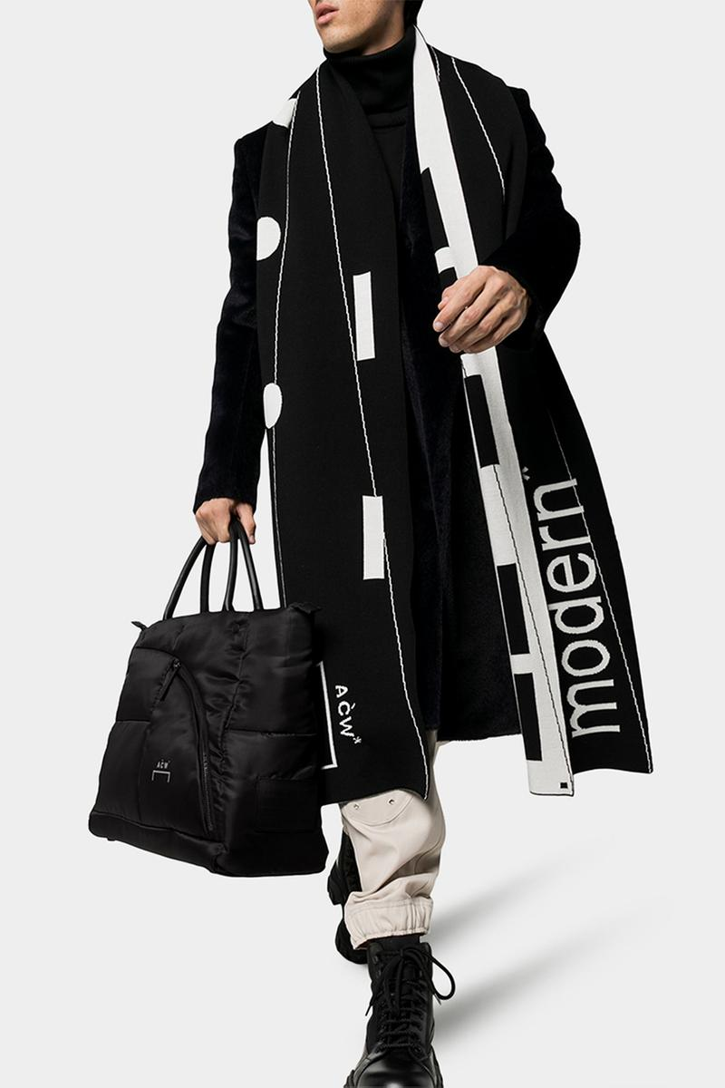 A-COLD-WALL* Black Logo Padded Tote Bag Samuel Ross Fall Winter 2019 FW19 Collection Piece Bags Cop Online Browns Technical Fabric