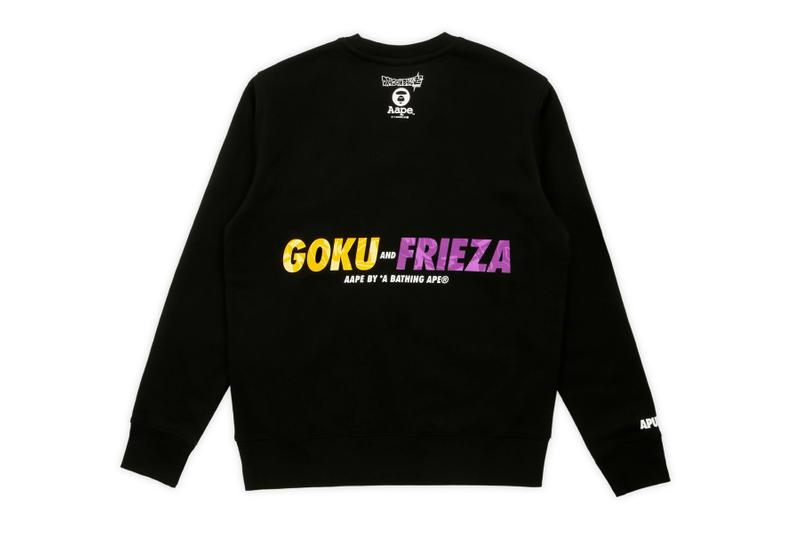 'Dragon Ball Super: Broly' x AAPE Second Capsule aape by a bathing aape dragon ball z collaborations Toei Animation Goku Frieza Vegeta Vegito aape moonface