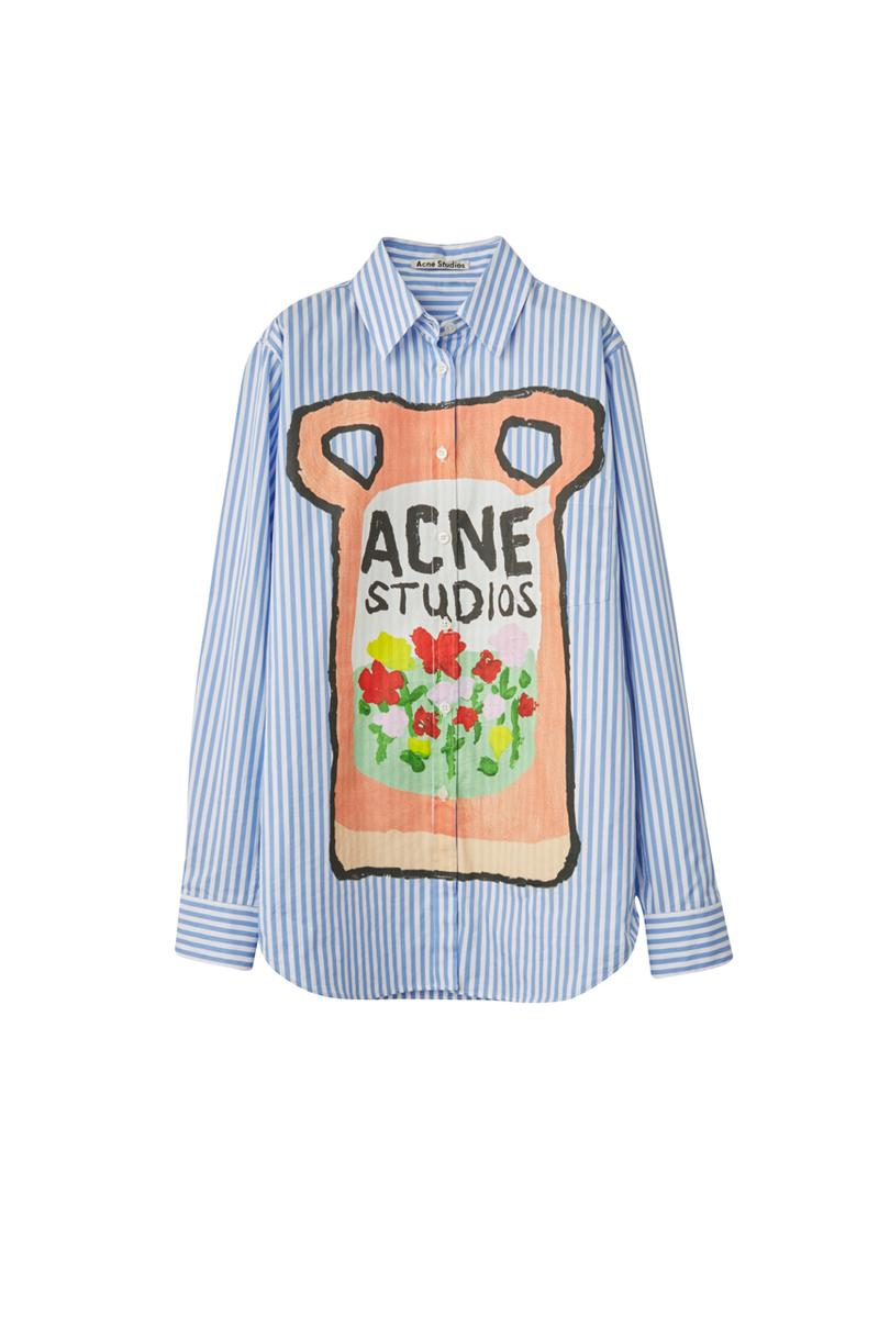 Grant Levy-Lucero Acne Studios Capsule Collection Sweaters Shirts Jackets Denim Jeans Ceramics Hoodies Vases Ceramics Laundry Logos