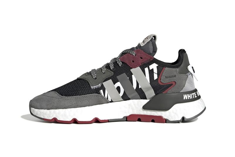 "adidas Originals by White Mountaineering Nite Jogger Fall Winter 2019 FW19 Runway Sneaker Release Information Paris Fashion Week ""Cloud White / Real Gold / Collegiate Burgundy"" ""Core Black / Grey Four / Legend Earth"""