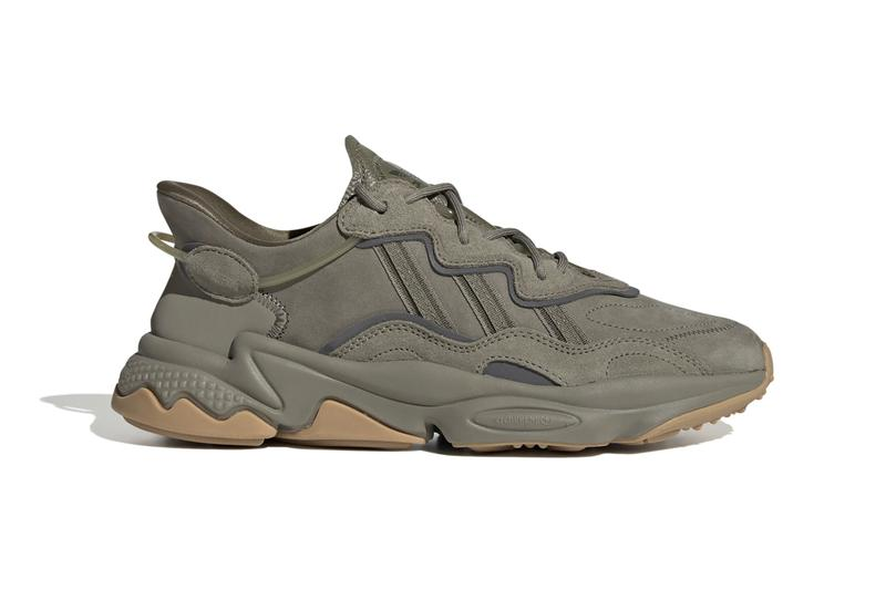 "adidas Originals Ozweego ""Trace Cargo/Night Cargo/Raw Khaki"" ""ST Pale Nude/Light Brown/Solar Red"" Sneaker Release Information adiPRENE Torsion Footwear Three Stripes New Colorways Autumn Fall Winter 2019 Ready Tactical Military Aesthetic"