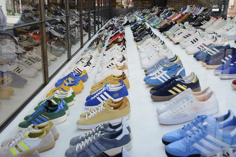adidas SPEZIAL Trainer Exhibition British Textile Biennial Blackburn UK Gary Aspden Designer Artist Makers 1000 Shoes Sneakers Footwear Archives Three Stripes Super Slow Way