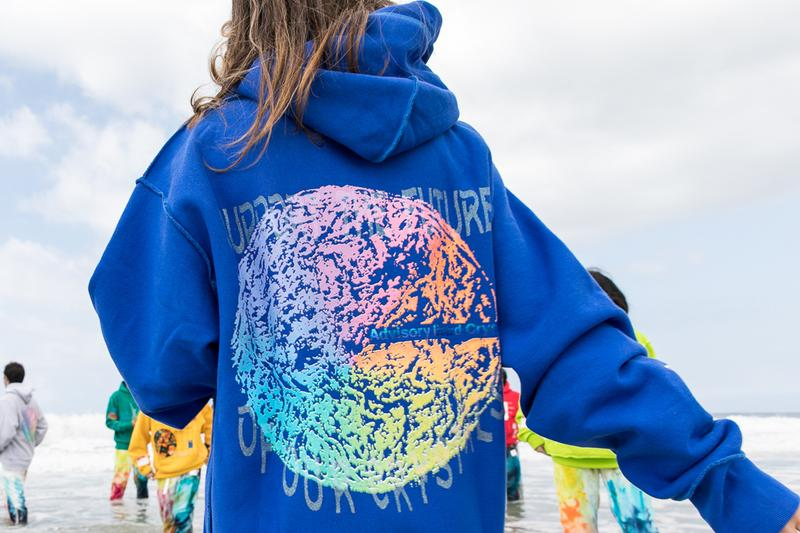 """GUESS Jeans U.S.A. Advisory Board Crystals Hoodies Zine Orange White Yellow Blue Gray Green Abstract Earth """"Planet Saving Information"""" EMA UCLA iOES"""