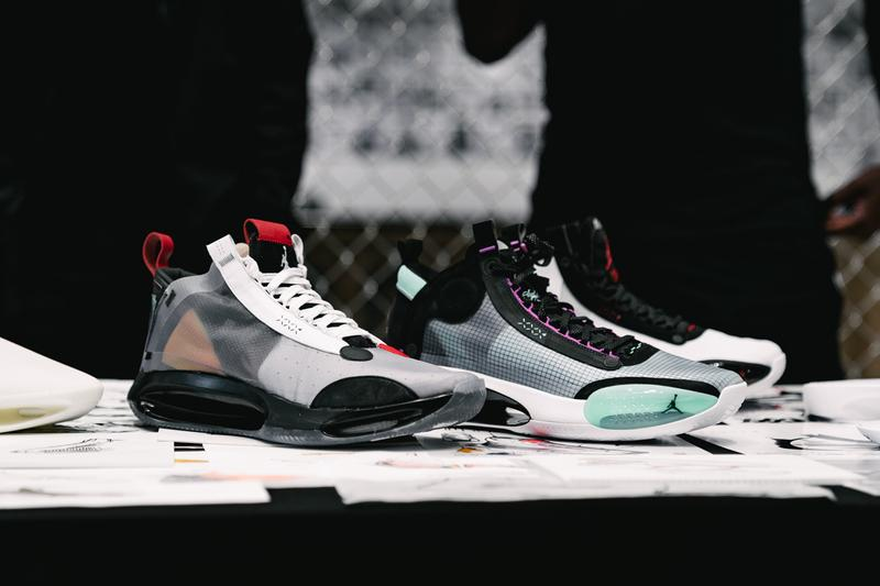 air jordan brand 34 xxxiv zion williamson nba new orleans pelicans stranger things caleb mclaughlin harlem new york city nyc unveil reveal event Dunlevy Milbank Center baby dunk kids crew basketball sneakers shoes nike air black white red