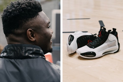 Zion Williamson & The Baby Dunk Crew Unveil the Air Jordan 34 in Harlem