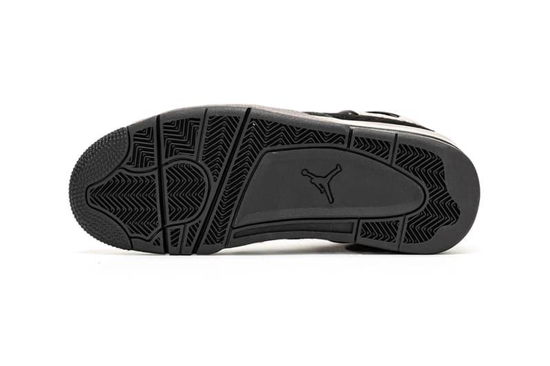 Air Jordan 4 Cow Fur First Look Brand Black Cat Bovine Fur CK2925-001 Release info Date Buy womens