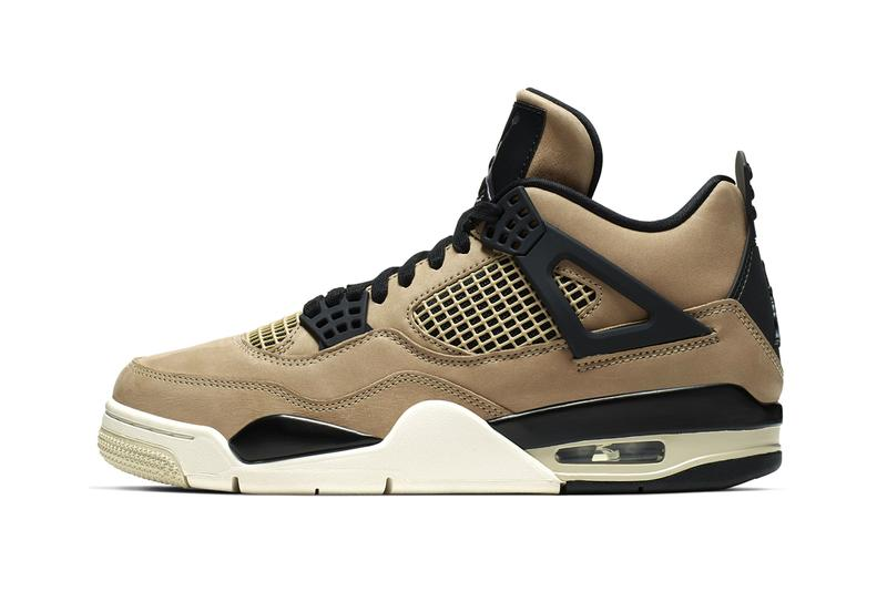 Air Jordan 4 Fossil Release Info Date Buy White Brown Womens Colorway AQ9129-200 Mushroom Black-Fossil Pale Ivory