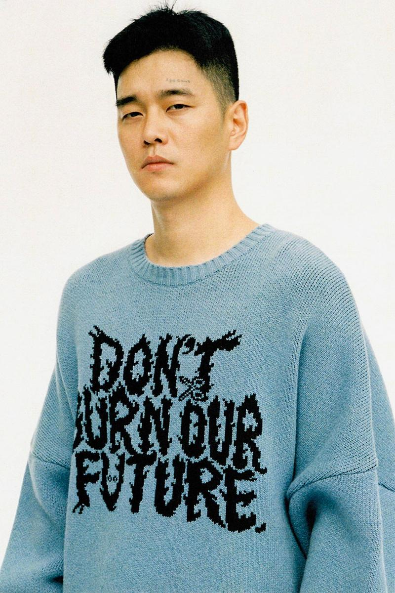 AJOBYAJO FW19 Collection DON'T BURN OUR FUTURE lookbooks Korean Seoul oversized patchwork