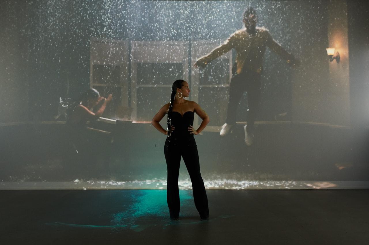alicia keys miguel show me love visual sonic installation interview video michael b jordan zoe saldana premiere dolby soho nyc
