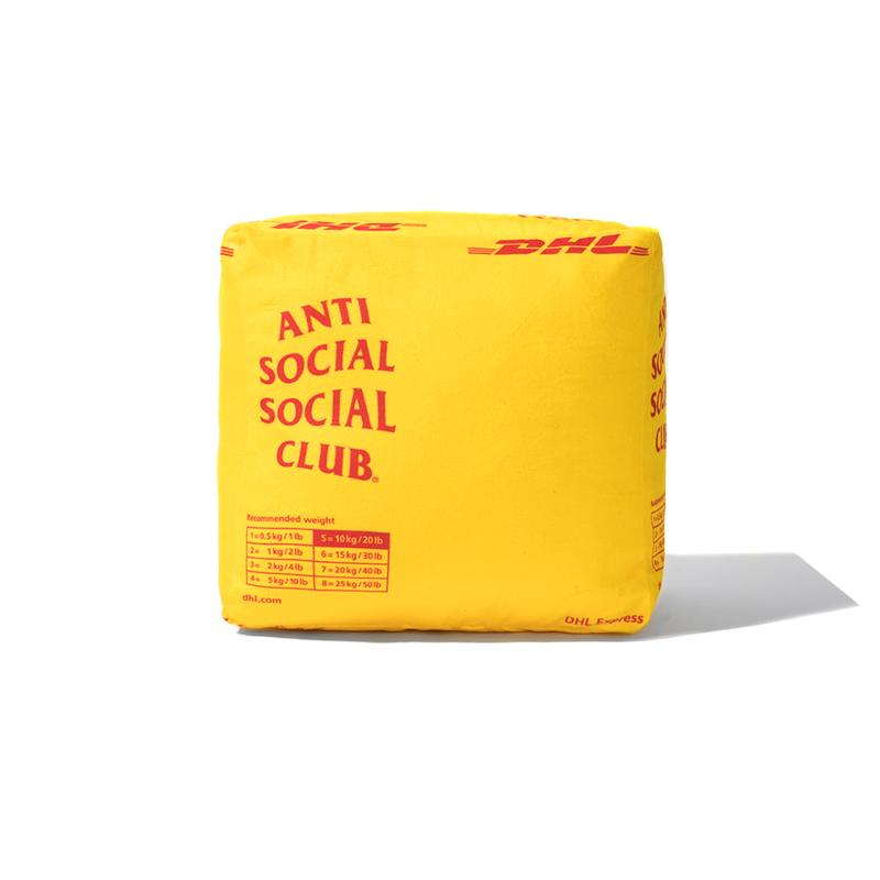 Anti Social Social Club DHL Clothing Collaboration capsule september 25 2019 release date info buy drop hoodie pillow cushion shipping yellow red logo