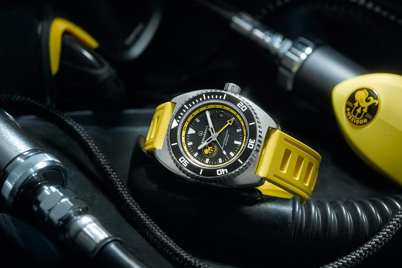 Aquadive Poseidon Dive Watch TimeDepth Aquadive Bathyscaphe 100 GMT Diving Deep Sea Exploration