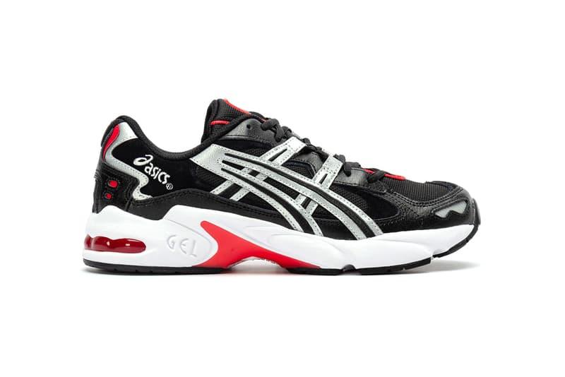 "ASICS GEL-KAYANO 5 OG ""Black/Silver"" Release Information First Look Shop Now Foot District Footwear Sneaker Drop Red Detailing Metallic"
