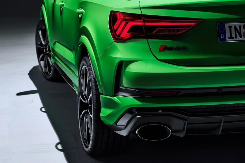 Audi RS Q3 Sportback First Look Unveiling 2020 Model Edition Mini SUV Sportscar 400 BHP Couple 4x4 Crossover Turbocharged 2.5 Litre Engine