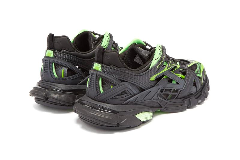 Balenciaga Track.2 Sneaker Black Neon Green Release Info