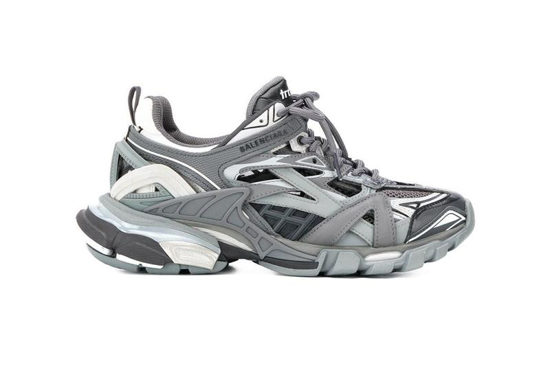 Balenciaga Track.2 Sneaker Grey Black Drop Release Information First Look Shop Now Demna Gvasalia Trail Runner 176 Panels Upper Technical