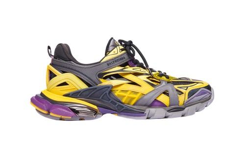 "Balenciaga's Latest Track.2 Sneaker Borrows the Lakers' ""Yellow/Purple"" Colors"