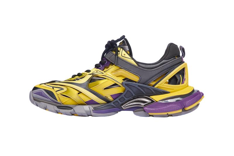 Balenciaga Track.2 Yellow Purple Release Info Price Los Angeles Lakers