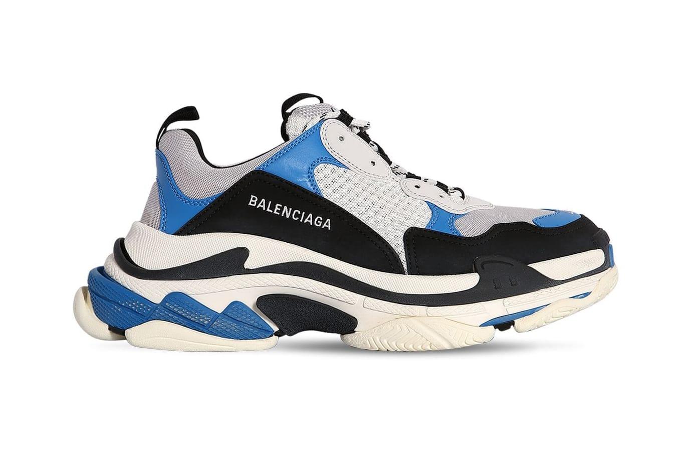 Gray Triple S Mesh Nubuck and Leather Sneakers Balenciaga
