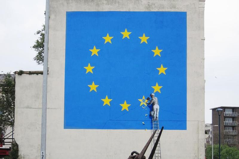 banksy brexit mural removal dover england