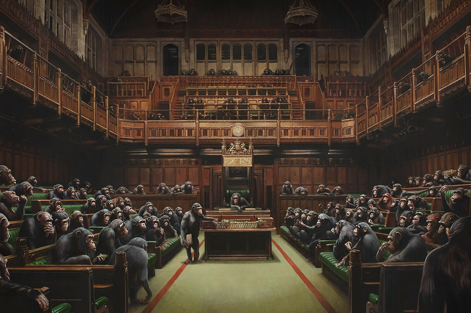 Bansky's 'Devolved Parliament' Could Become His Most Expensive Artwork