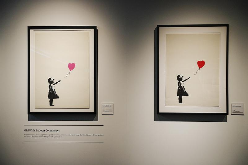 """Banksy """"I can't believe you morons actually buy this shit"""" Collection Sale Christie's Auction 1,255,357 million euros 2004 'Girl with Balloon' $491000 USD"""