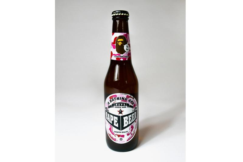 A Bathing Ape Is Giving out Free BAPE Beer japan camo ape head green pink blue
