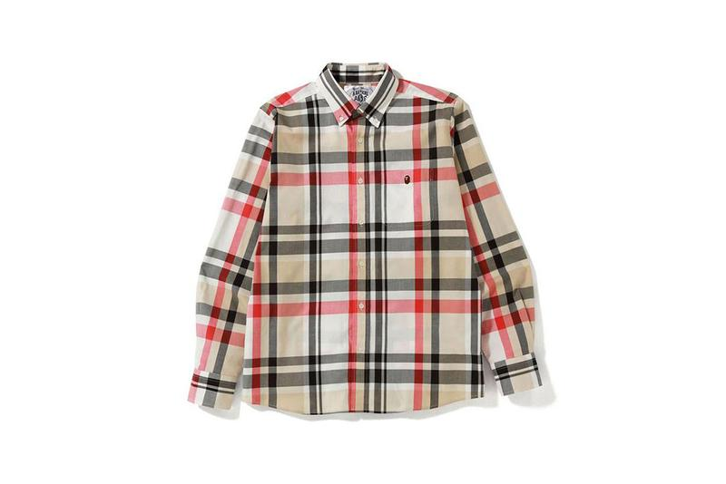 BAPE A Bathing Ape Fall Winter 2019 FW19 Capsule Collection Burberry Check Checkered Pattern Garments Outerwear Jackets Shirts Sweaters T-Shirts Socks Hats Caps Five Panels Streetwear NIGO