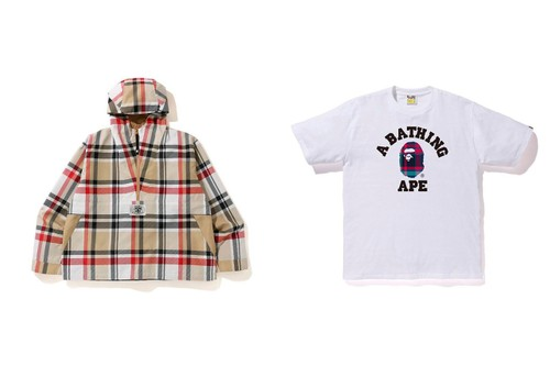 BAPE References Burberry for 200% Check Print Capsule Collection