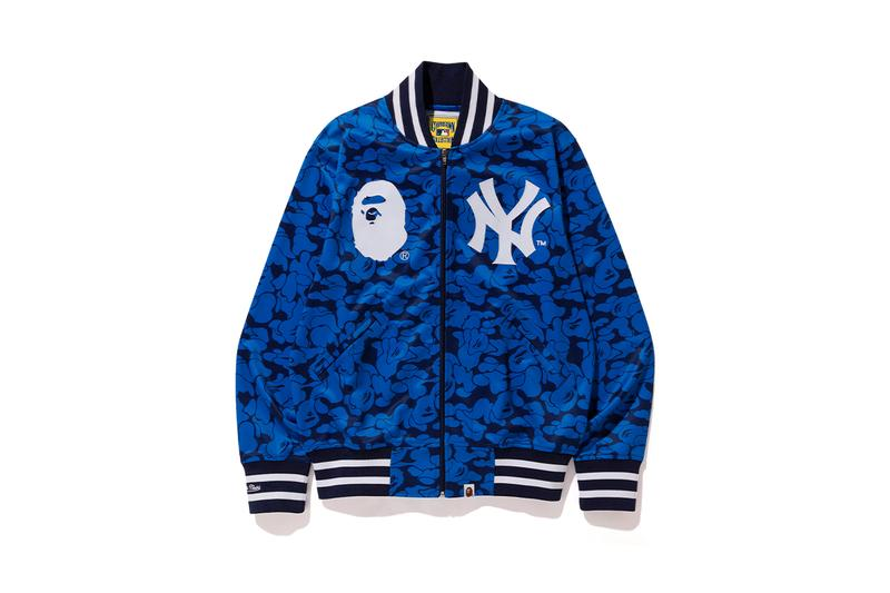 BAPE Mitchell Ness MLB Collaboration Collection Release Info a bathing ape major league baseball new york yankees mets los angeles angels dodgers