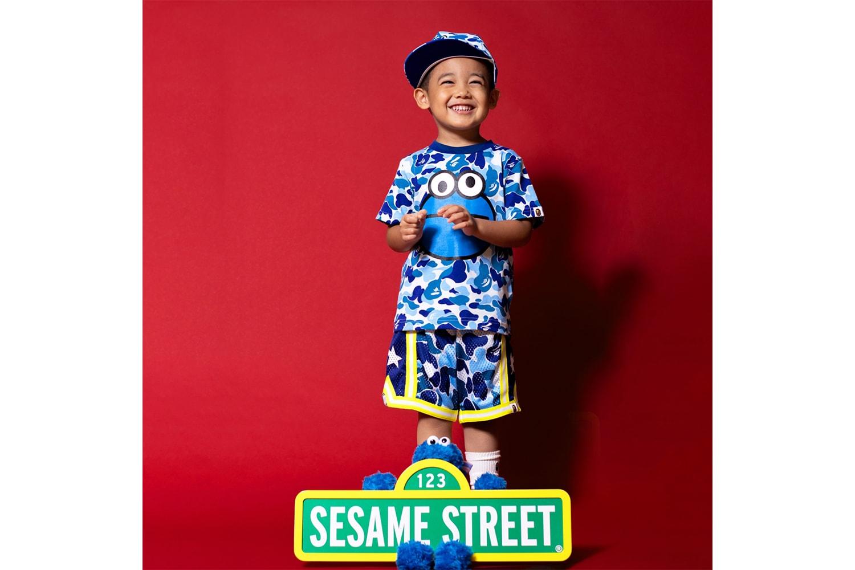 BAPE 'Sesame Street' Collection Lookbook Big Bird Elmo Bert and Ernie Cookie Monster