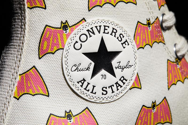 'Batman' x Converse Collaboration 80th Anniversary Edition Footwear All Star Chuck Taylor '70 Hi Low Logo Batwings Caped Crusader Superhero DC Warner Bros.
