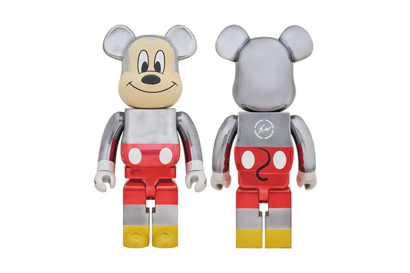 BE@RBRICK fragment design Mickey Mouse Silver White Gray Red Iridescent