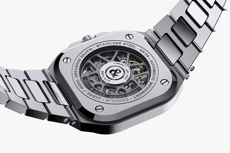 Bell & Ross BR 05 New Watch Timepiece First Look Reveal Multiple Colorways silver grey navy blue deep black metal Integrated Design bracelet skeleton dial mechanism limited 500 pieces