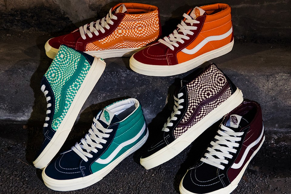 "BILLY'S TOKYO Exclusively Offers the Vans Sk8-Mid ""Warped Check"" Pack"