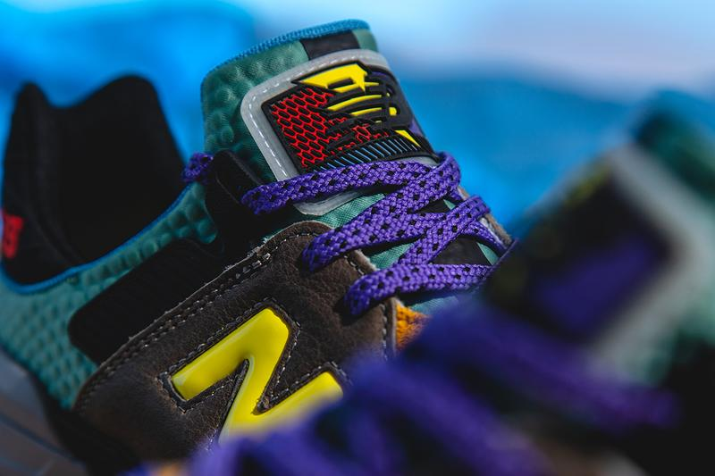 new balance 997s bodega no bad days closer look buy cop purchase grey brown leather teal yellow red