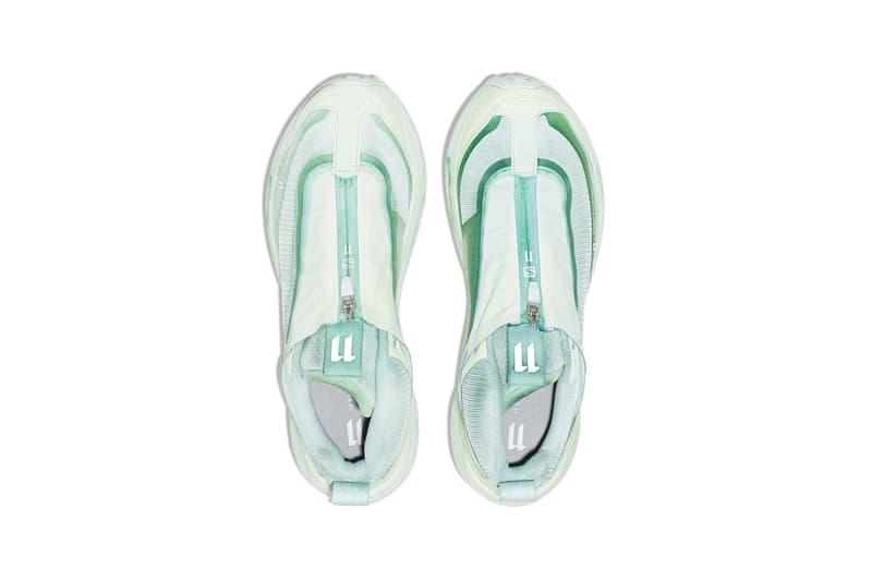 boris bidjan saberi salomon s lab green bamba 2 sneakers mesh mint zipper zip tongue