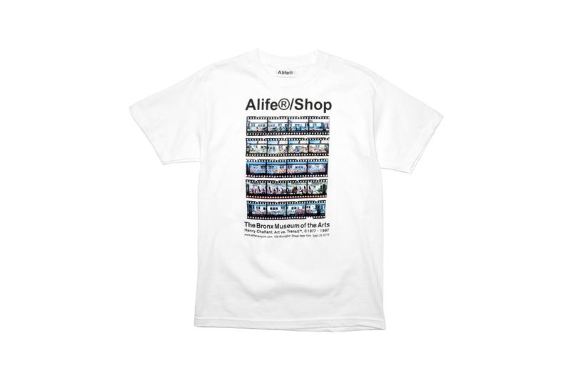 bronx museum of the arts alife  new york pop up shop collection Henry Chalfant retrospective photographs exhibition limited edition streetwear graffiti graphics tshirts shirts tees skate decks duffle bags