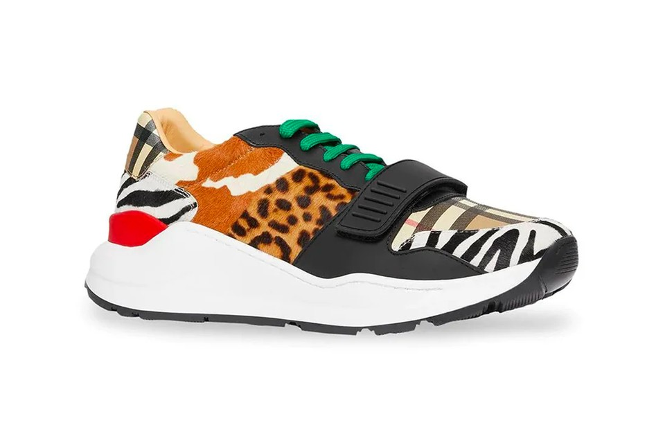 Burberry's Low-Top Sneaker Gets Doused in Bricolage of Animal Prints & Check Patterns