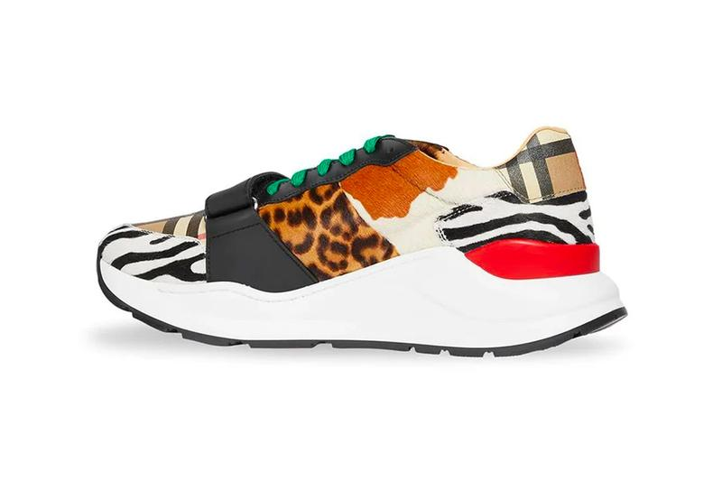 Burberry Animal Print & Classic Vintage Check Sneaker Release drop date the webster buy now atmos air max animal print low-top velcro made in italy calf leather suede hair 80108661