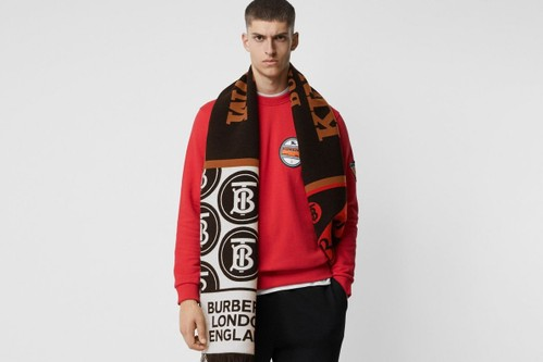 Burberry Adds a Luxe Take to the Football Scarf