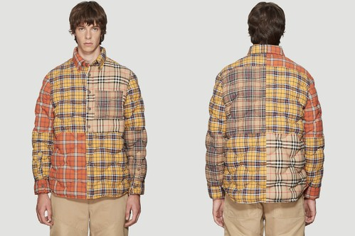 Burberry Mashes Up Classic Plaid Patterns in Quilted Overshirt