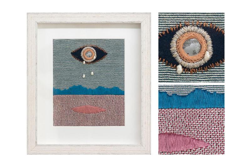 charlotte edey echolocation public gallery london exhibition artworks textiles
