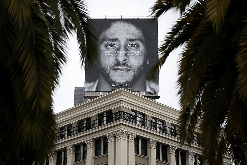 Nike Controversial Colin Kaepernick Stance Effect Brand Sales Image Ad Campaign NFL