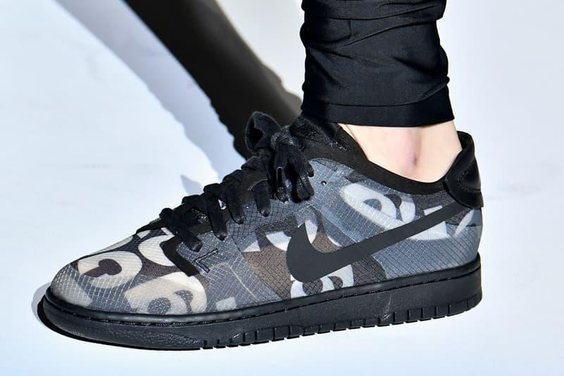 COMME des GARÇONS x Nike Dunk Low SS20 Sneaker collaboration womens spring summer 2020 runway show logo paris fashion week