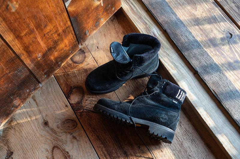 "LFOD Concepts x Timberland 6"" Boot Drop Release GORE-TEX Suede Black Sea Foam Green"