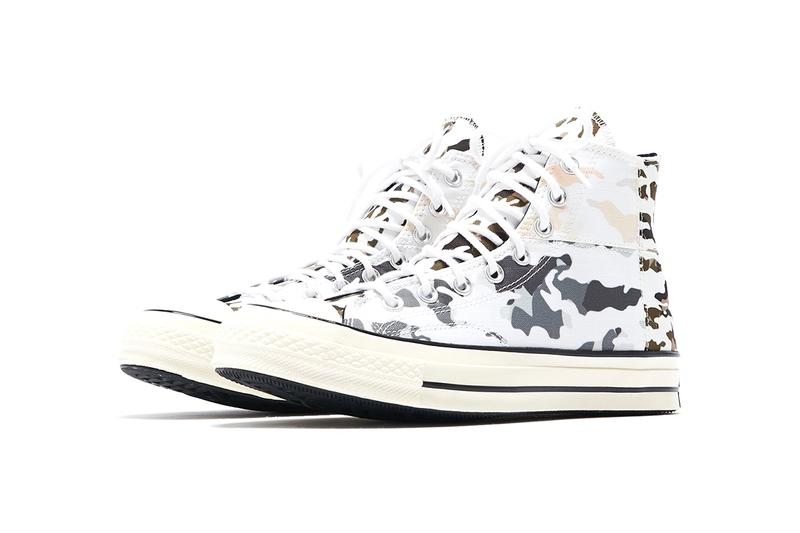 "Converse Chuck '70 Hi ""Blocked Camo"" Release Information KITH Store Cop Online In Store Camouflage Design White Leather Canvas Taylor All Star Ripstop ""Carbon Grey/Egret"""