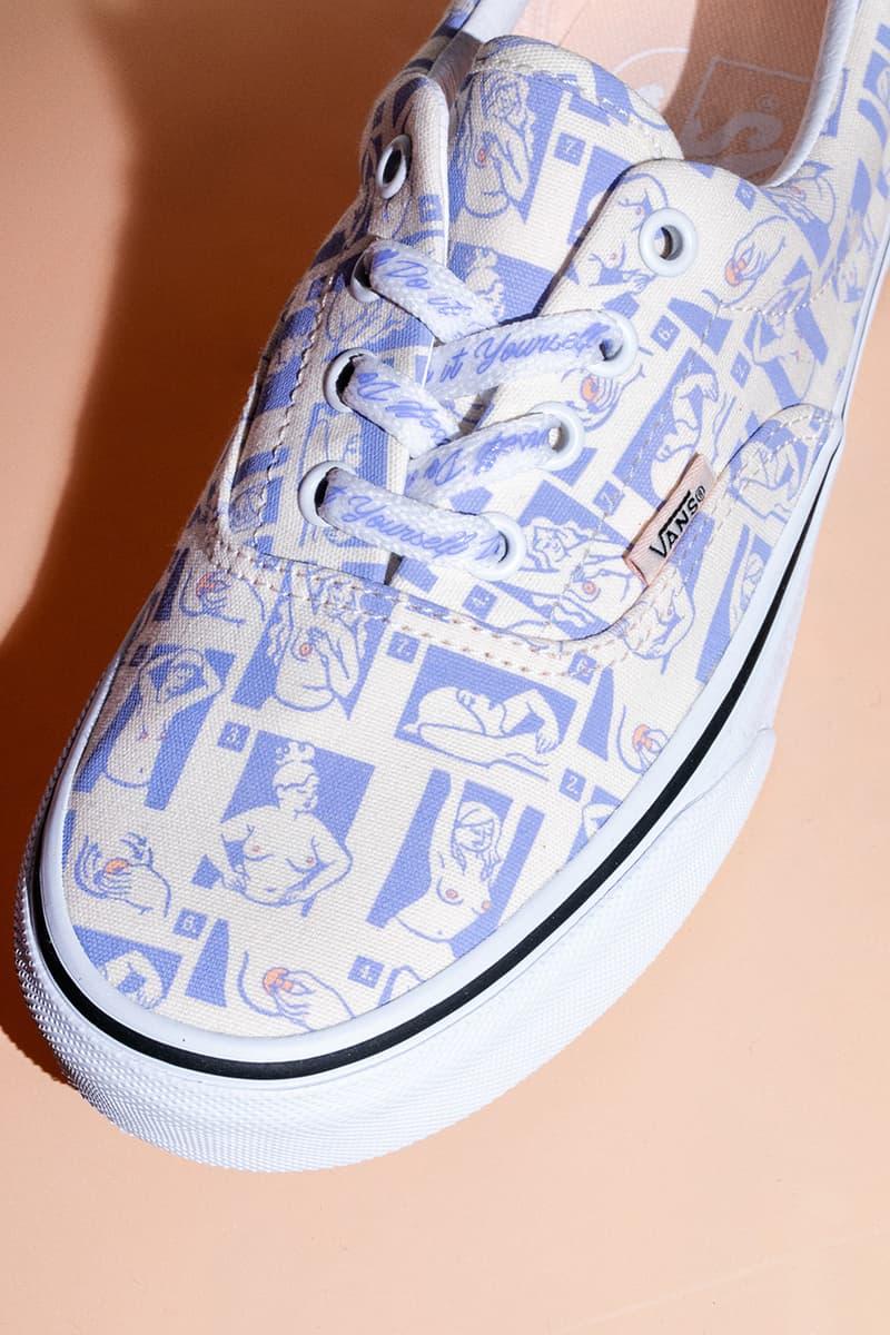 CoppaFeel! x Vans Breast Cancer Awareness Collection Shoes Vans Slip-On Sk8 Hi Slide Backpack Socks Hat T-Shirts Era Graphic Design Charity Fundraising $200000 USD